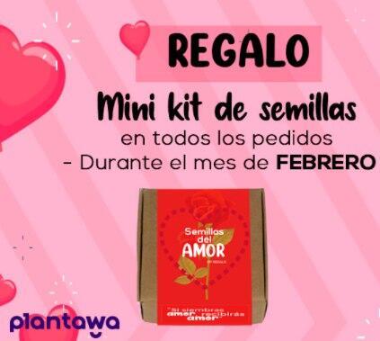 GRATIS Mini Kit de Semillas San Valentín con cualquier pedido