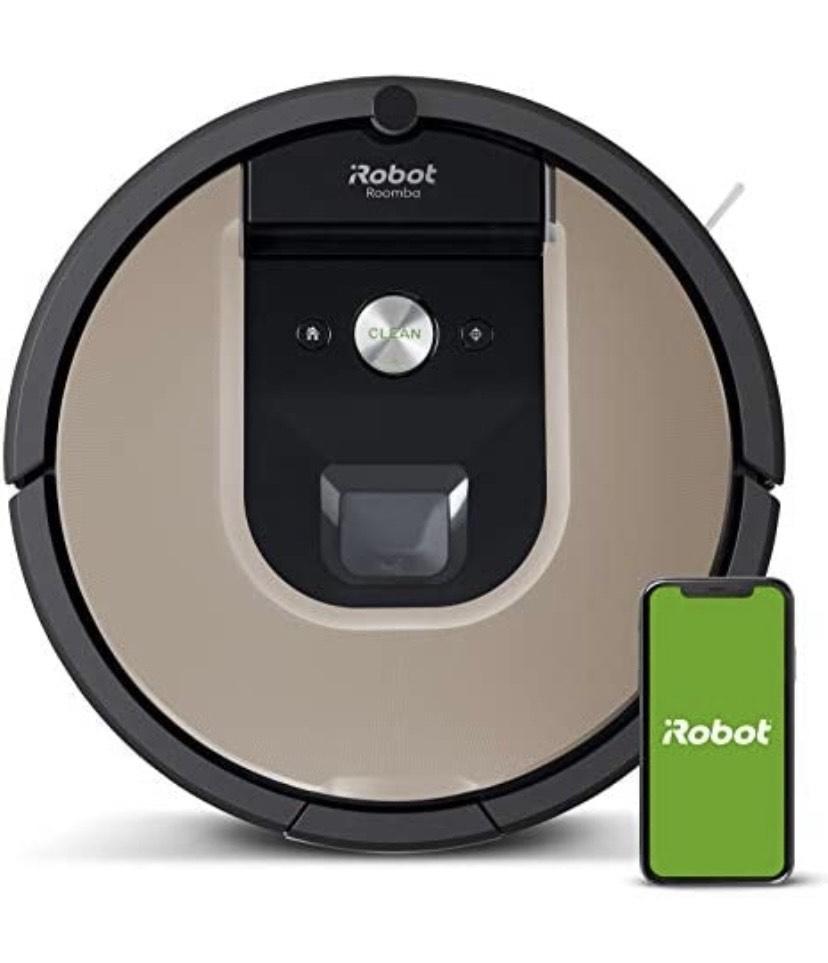 iRobot Roomba 966- Robot aspirador con Wi-Fi, dos cepillos de goma multisuperficie y antienredos, óptimo mascotas, Recarga y reanuda