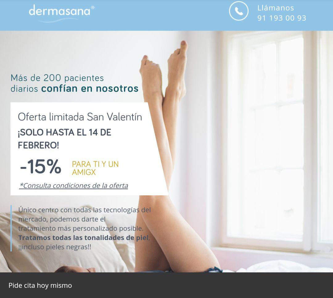 15% descuento en bonos de depilación, además de una sesión gratis
