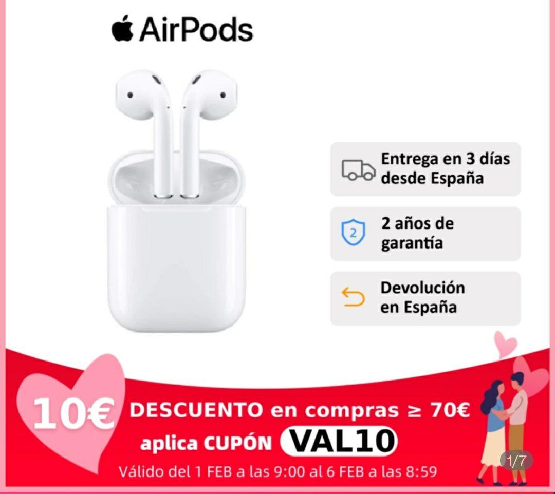 Apple Airpods V2 Modelo 2019/ Por 114 euros con cupón en Plaza