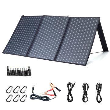 Cargador solar impermeable al aire libre para Camping XMUND XD-SP2 100W 18V Panel solar 3-USB + DC PD Carga rápida