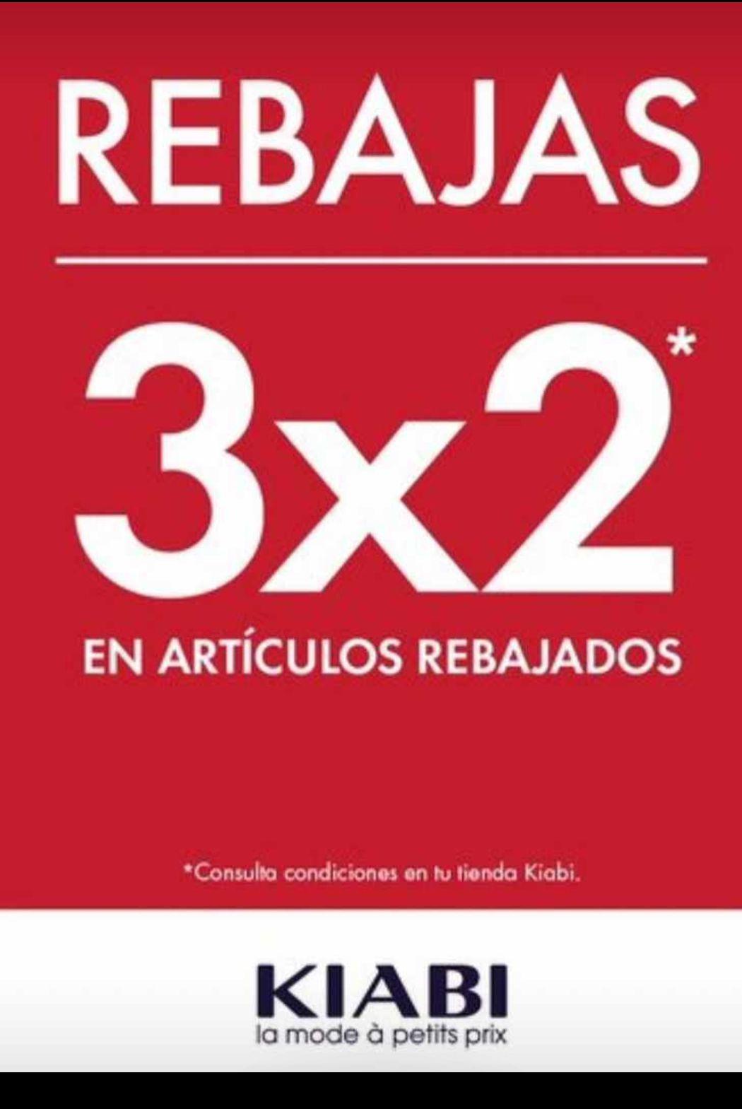 3x2 en Kiabi artículos rebajados en tienda