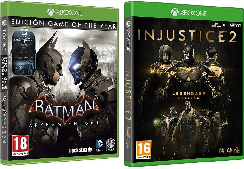 XBOX ONE: Batman: Arkham Knight Goty Edition o Injustice 2: Legendary Edition por 22,50€ (juego físico)