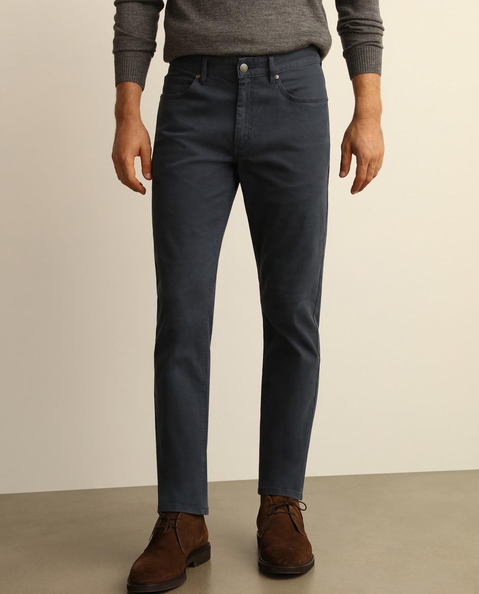 Pantalón cinco bolsillos de hombre, azul