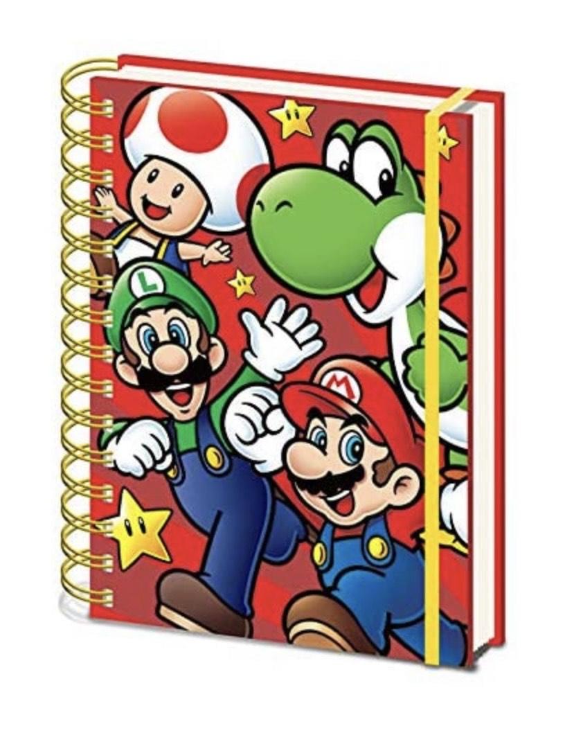 Super Mario, Cuaderno A5 Espiral Run