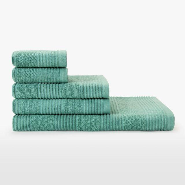 Juego de 5 toallas de algodón 450 gr/m2