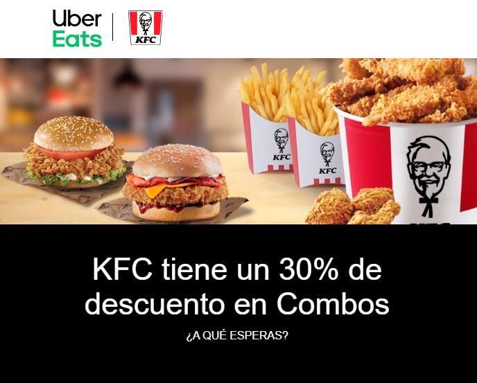 30% de descuento en Combos de KFC