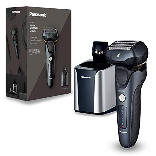 Afeitadora Panasonic 5 Cuchillas, Ultima Sere Con Base De Limpieza