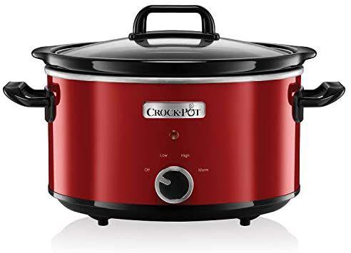 Crock-Pot SCV400RD Olla de cocción lenta manual, 210W, 3.5l