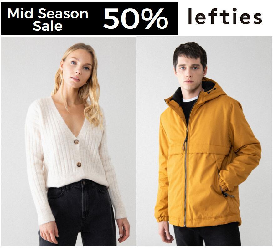 Mid Season Sales en Lefties con casi todo al 50% de descuento