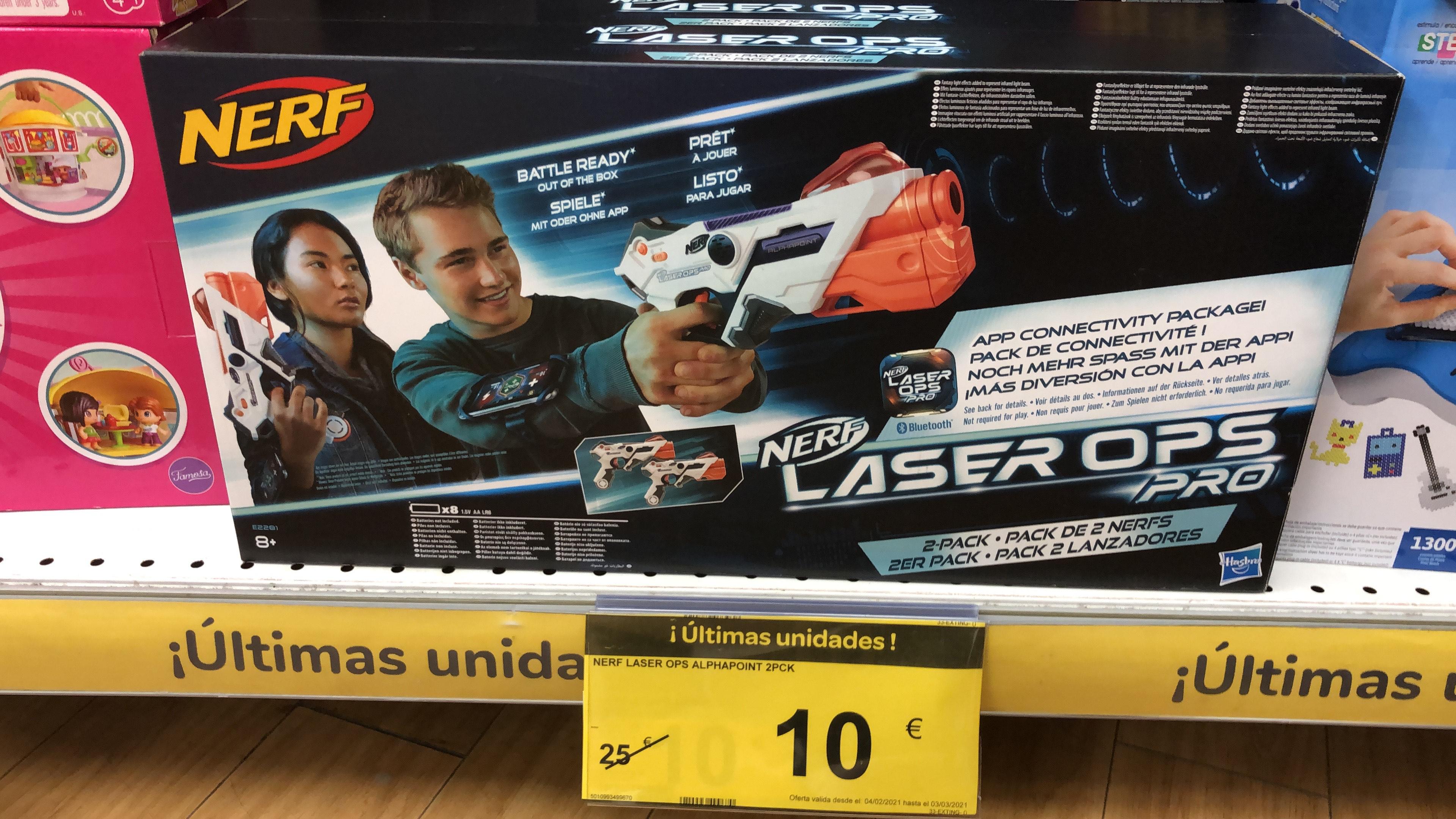 Pack 2 pistolas Láser NERF