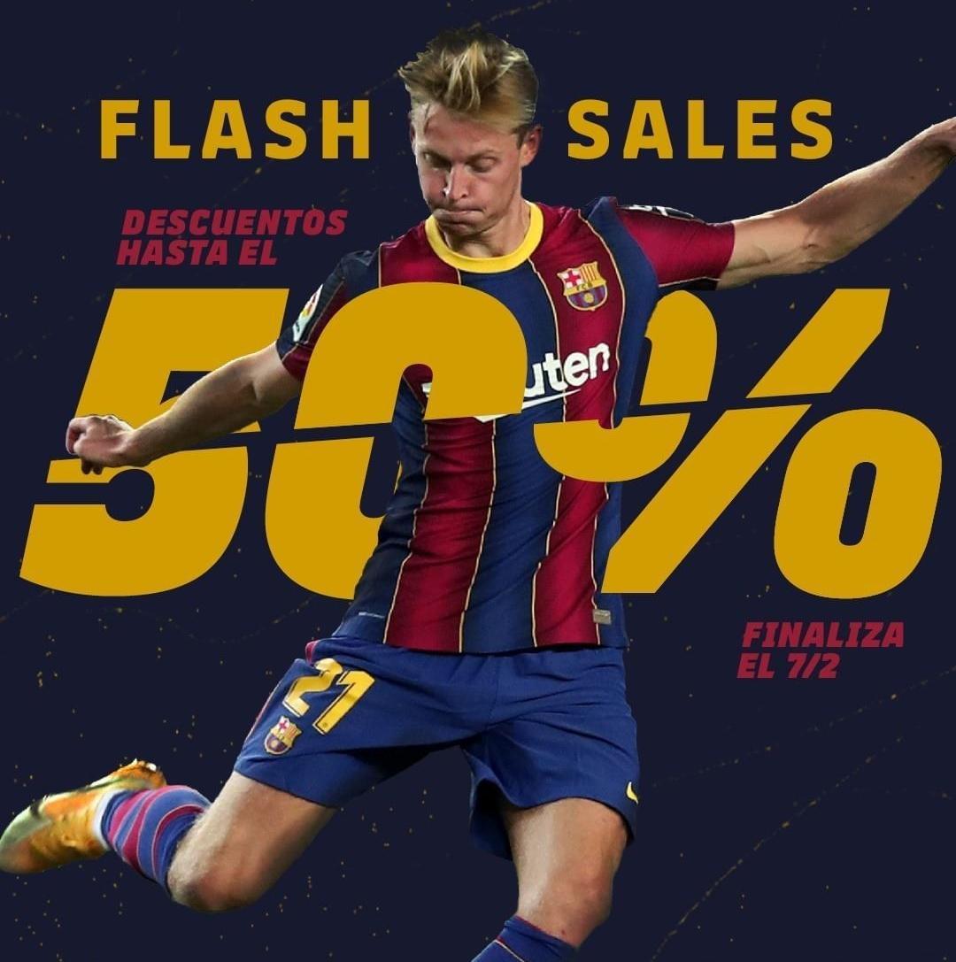 FLASH SALES 50% EN LA TIENDA OFICIAL DEL FC BARCELONA