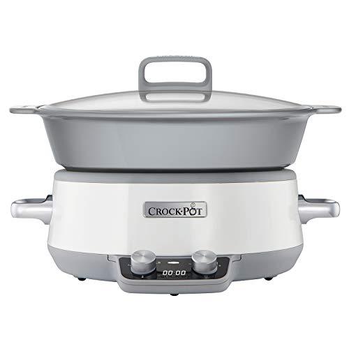 Crock-Pot Duraceramic CSC027X Olla de cocción Lenta Digital, Recipiente Compatible con Fuego e inducción, para Preparar Todo Tipo de Recetas