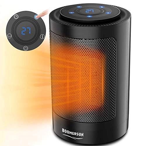 Boomersun Calefactor de cerámica de 1500 W con oscilación automática
