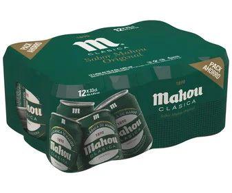 Pack de 12 latas Mahou clásica