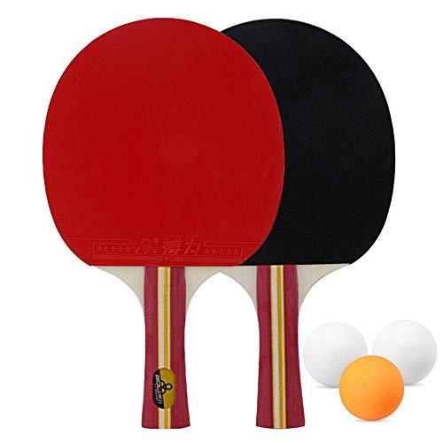 Kit de Ping Pong: 2 palas, 3 Pelotas + bolsa de Almacenamiento