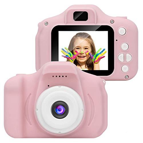 1080P HD Kids Camera Cámara Digital con Pantalla LCD de 2 Pulgadas Tarjeta de 32G TF para niños-Pink-A1
