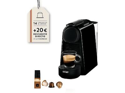 Cafetera de cápsulas - Nespresso De Longhi Essenza Mini EN85B, 19 bares, 0.6 L