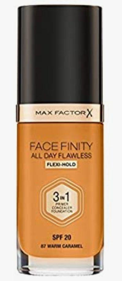 Max Factor Facefinity 3 en 1 All Day Flawless Base de Maquillaje, Tono 87