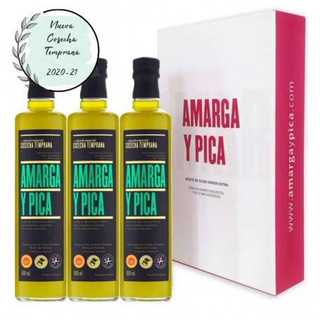 3x Aceite de oliva Amarga y Pica (AOVE)