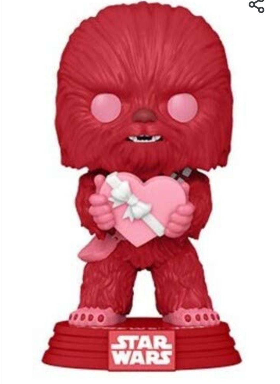 Funko- Pop Star Wars Valentines Cupid Chewbacca Juguete Coleccionable, Multicolor (52871)