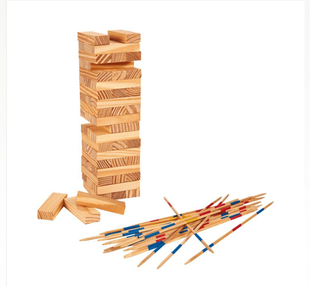 Juego madera (Bloques apilables o Mikado)