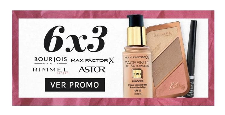 6x3 en Max factor, Rimmel, Astor y Bourjois