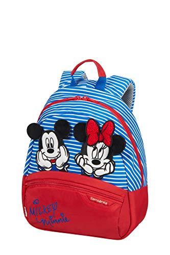 Mochila Samsonite Disney Ultimate 2.0, Infantil S, 28.5 cm, 7 L, Multicolor (Minnie/Mickey Stripes)