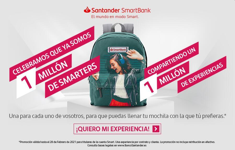 Experiencias GRATIS (puenting, buceo) con cuenta Smart Banco Santander