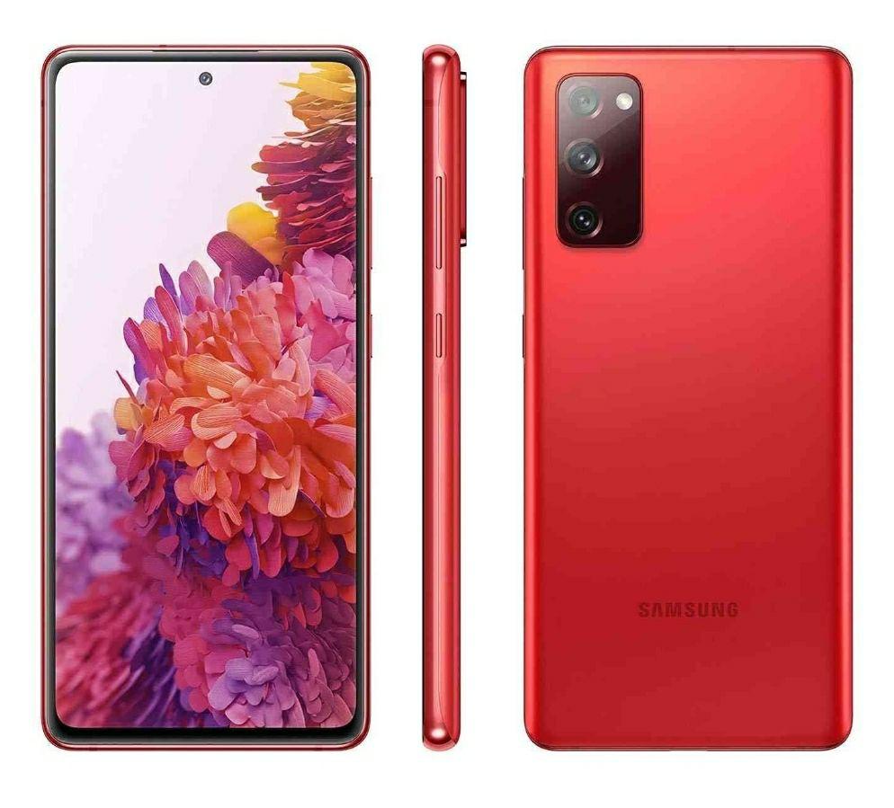 Samsung Galaxy S20 FE G781 5G 8GB/256GB Dual Sim - Cloud Rojo con Protector de Pantalla de Vidrio Templado
