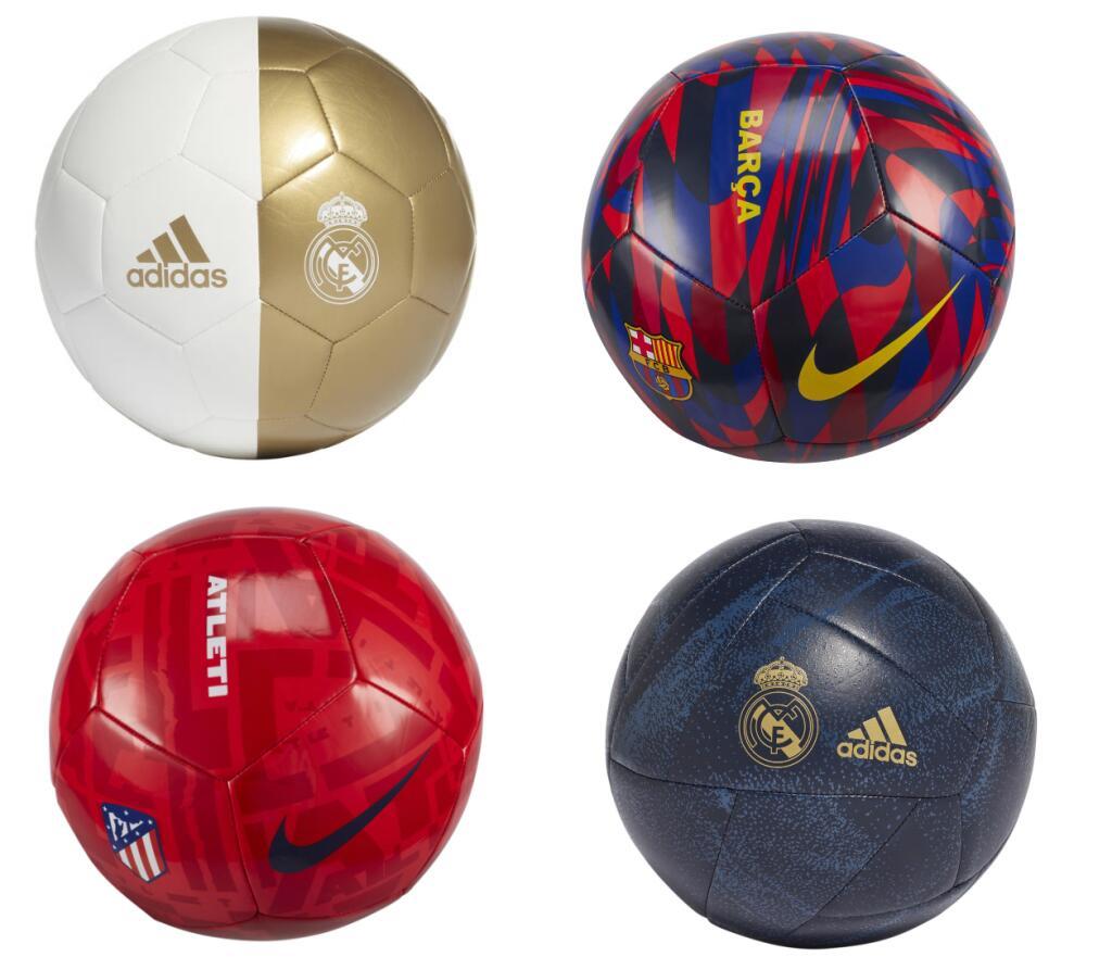 Balones Real Madrid, FC Barcelona, Atletico de Madrid Desde 9.95€/Unidad