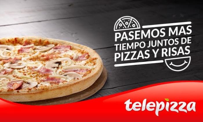 Telepizza mediana + pelis por 4€ Groupon