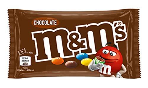 M&Ms Choco Snack en Bolitas de Colores de Chocolate con Leche 40 g - Pack de 24