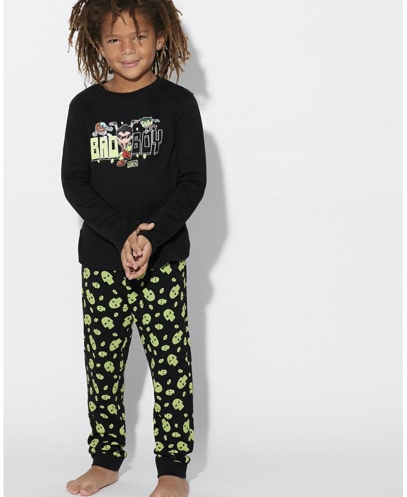Pijama Largo Interlock talla 2-3