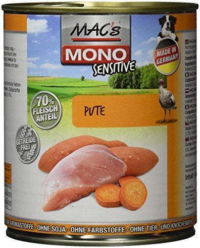 Pack de 6 latas de Mac 's Mono Sensitive, 800g unidad