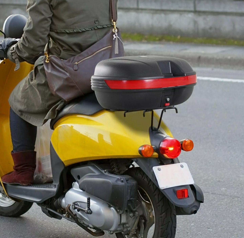 Baúl Moto Universal Baul Negro 44L