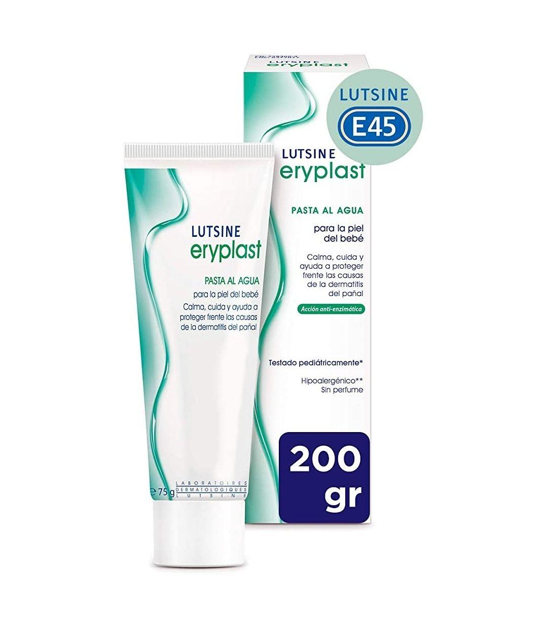 Eryplast Lutsine E45 - Pasta al Agua Crema Pañal Bebé - 200gr x2 (Descuento al tramitar)