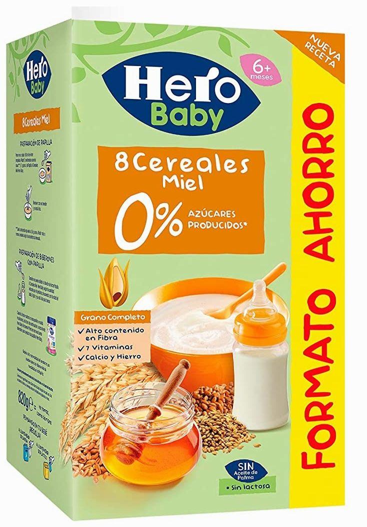 Hero Baby Papilla 8 Cereales con Miel 820 g