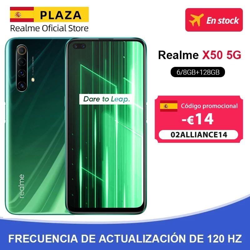 Realme X50 6/128 versión global (AliExpress Plaza).