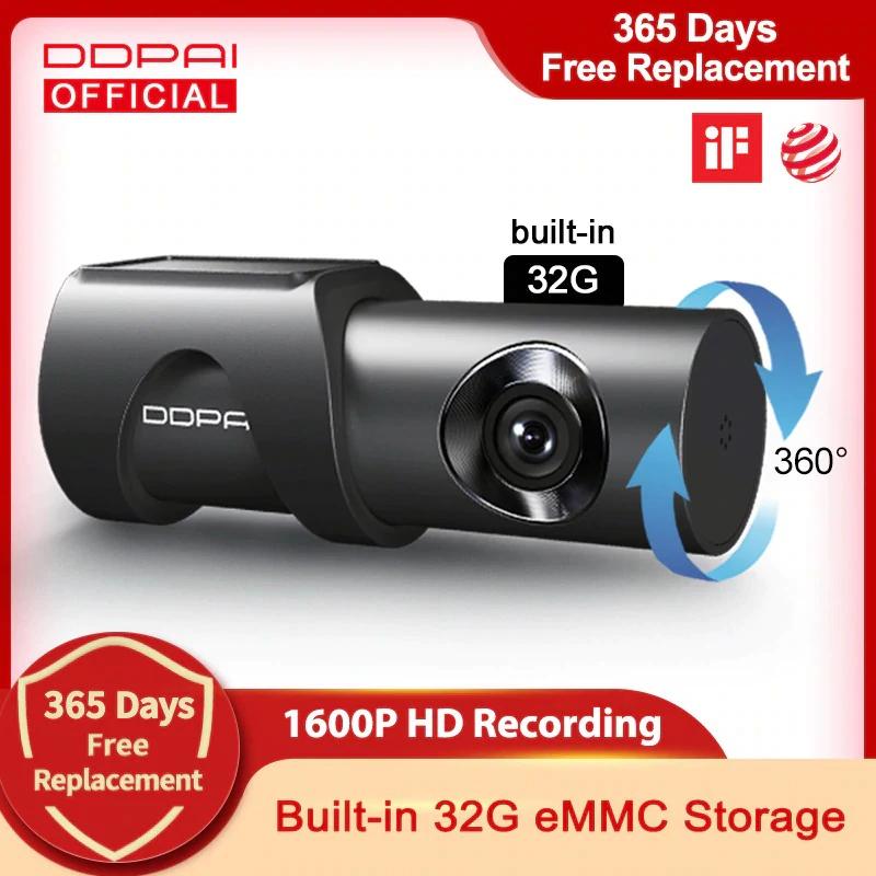 DDPAI cámara de salpicadero Mini 3 1600P HD Dvr Video Recroder 2K Android Wifi Smart 24H