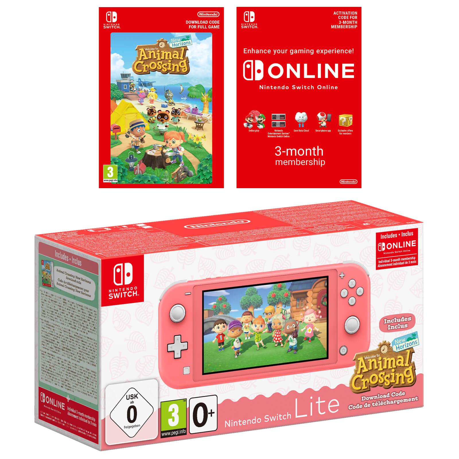 Nintendo Switch Lite Coral + Animal Crossing + 3 meses online por 205€ (envío incluido)