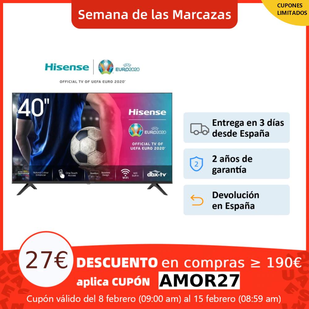 HISENSE 40A5600F TV televisión Smart TV 40 pulgadas,Led TV,FHD 1920x1080 *Envío España*