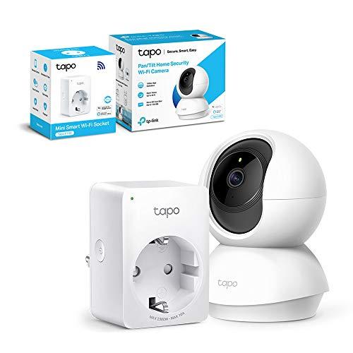Cámara IP TP-LinkWiFi 360º Full HD + Enchufe inteligente TP-Link por 24,98 €