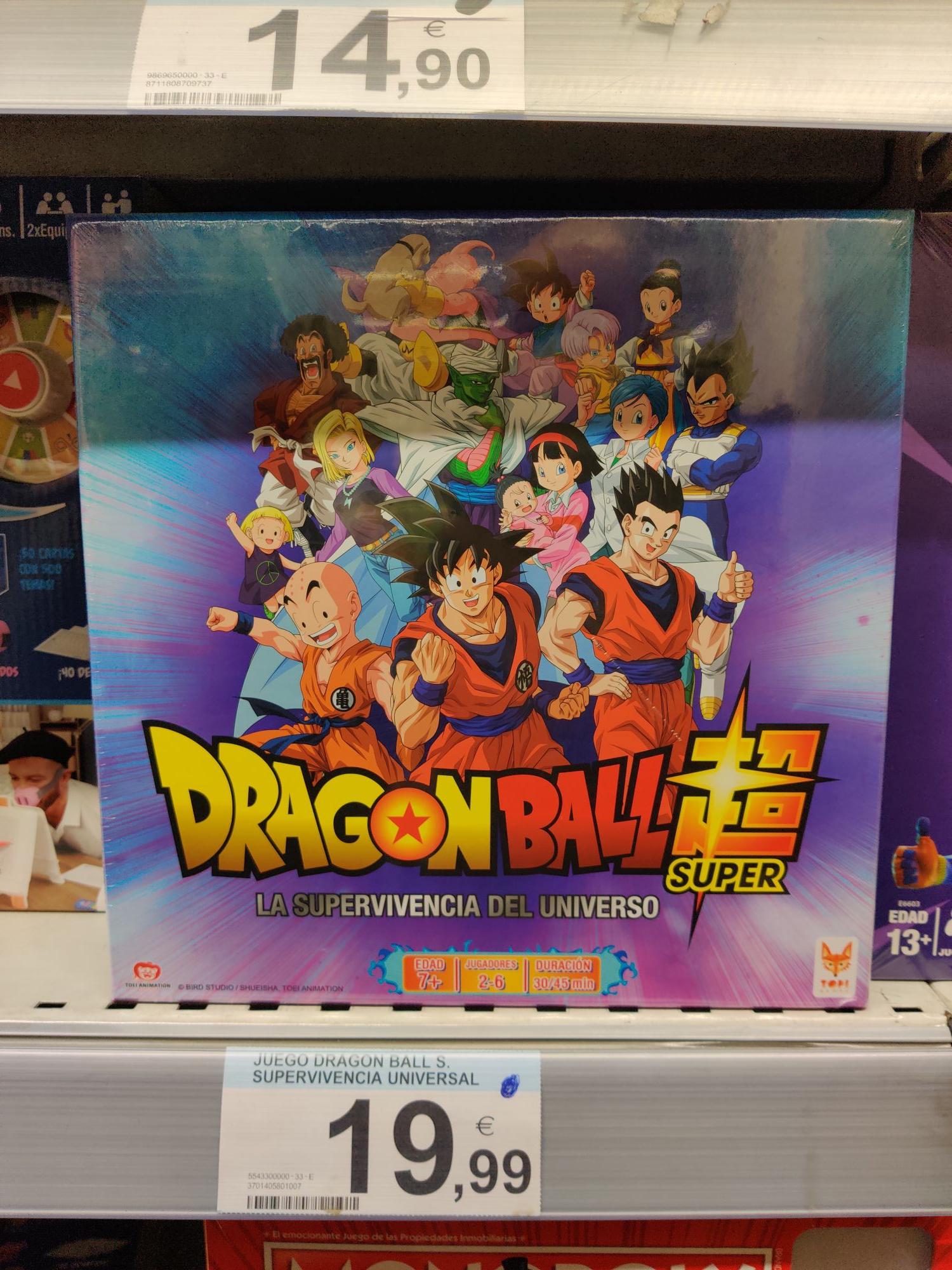 Dragon Ball Super - La supervivencia del universo, juego de mesa. En Carrefour de Vigo