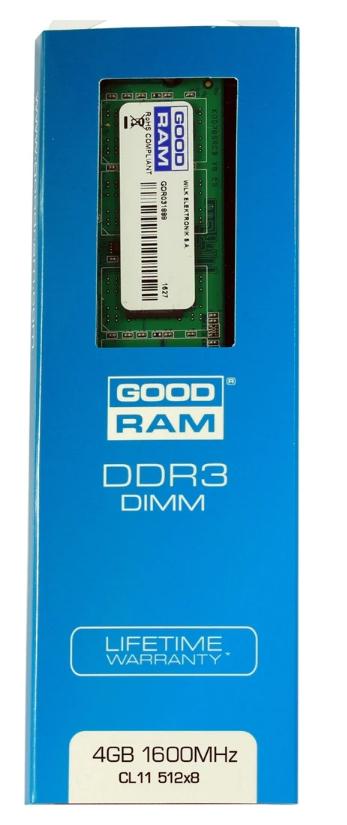 Memoria RAM 4GB DDR3 1600Mhz CL11 (Para equipos de hace unos años)
