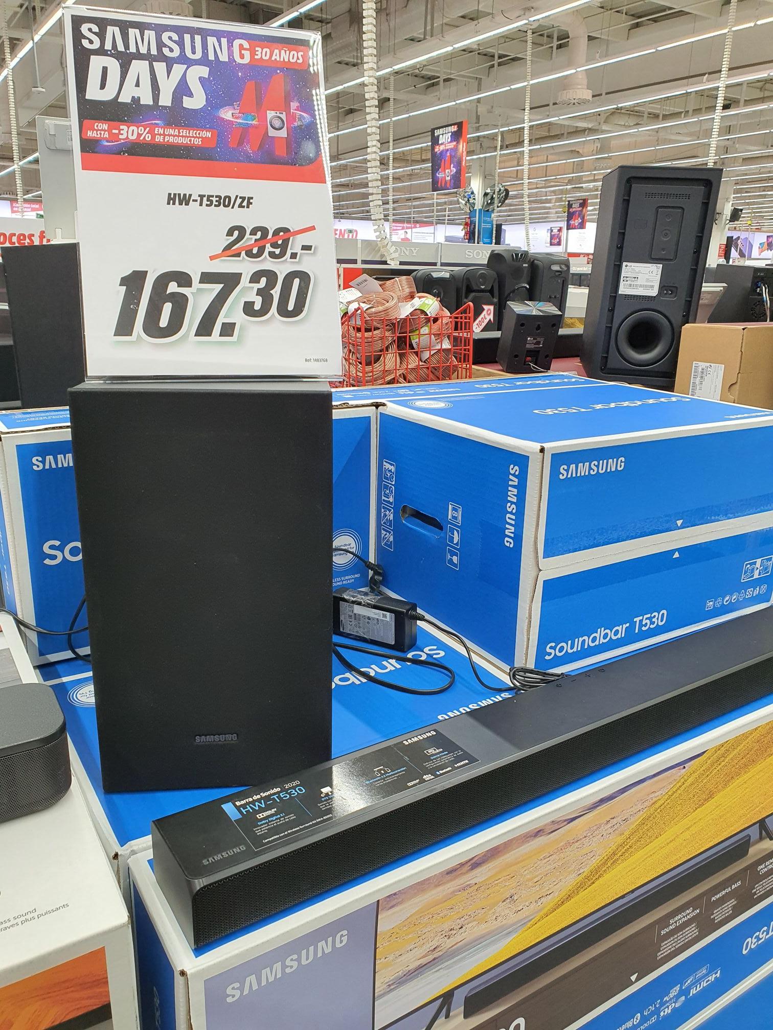 Barra de sonido Samsung (soundbar) HW-T530/ZF