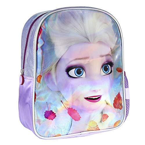Mochila Infantil Metalizada Brillante de Frozen-Licencia Oficial Disney Studios Unisex , Multicolor