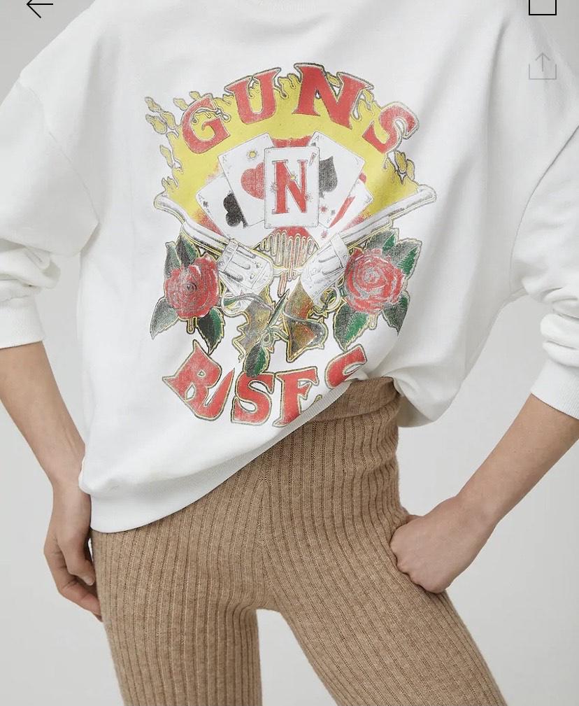 Sudadera Guns N' Roses cartas y más