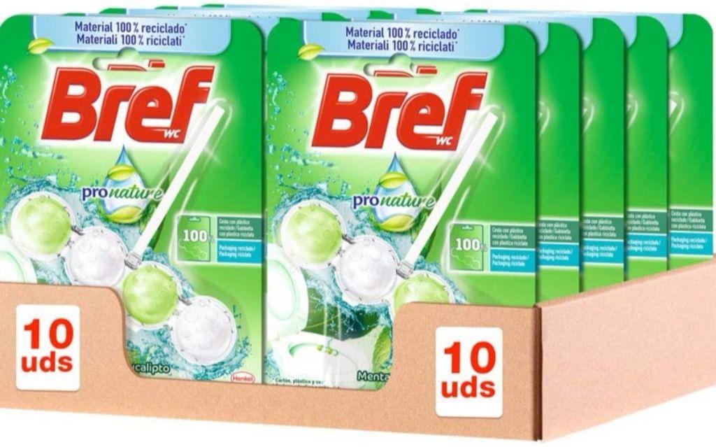 Bref Pronature Menta y Eucalipto Colgador WC (Pack de 10 unidades)