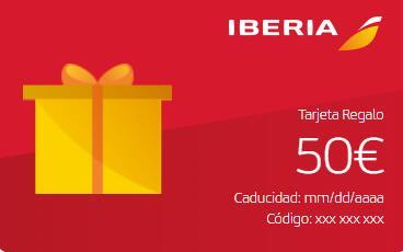 Tarjeta regalo con 25% de descuento en Iberia